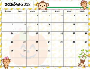 Calendario Académico 2018-2019 Monitos