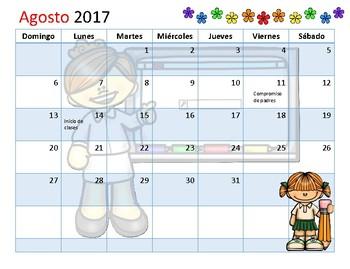 Calendario Académico  agosto 2017 a mayo 2018