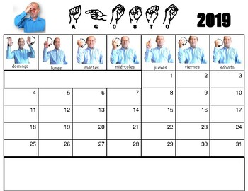 Agosto 2020 Calendario.Calendario Agosto 2019 A Julio 2020