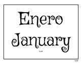 Calendario Bilingüe Enero / January Bilingual Calendar