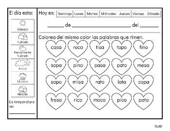 Calendario Bilingüe Febrero / February Bilingual Calendar
