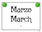 Calendario Bilingüe Marzo / Bilingual Calendar March