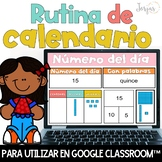 Calendario Calendar Math in Spanish Distance Learning