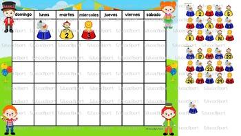 Calendario Circo/ Spanish Circus Calendar Set