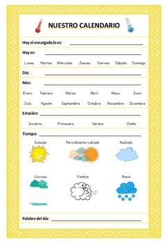 Spanish -->Daily Calendar :)! // Español --> Calendario diario