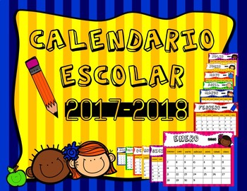 Calendario Escolar 2017-2018 en Español / School Calendar 2017-2018 in Spanish