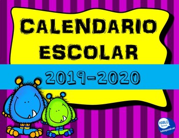 Calendario Para Kinder 2019.Calendario 2019 Worksheets Teaching Resources Tpt