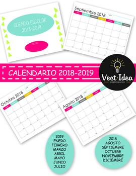 Calendario Escolar Español 2018-2019