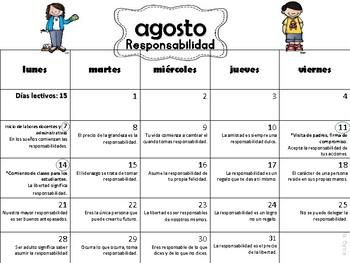 Calendario  Escolar/Reflexiones 2017-18 Melonheadz