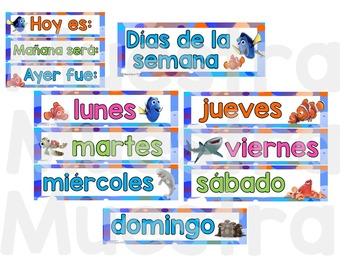 "Calendario ""Finding Dory"" / Spanish Finding Dory Calendar"