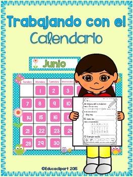 Calendario - Hoja para trabajar el calendario