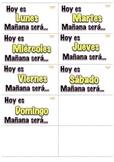 Calendario Hoy Ayer Mañana Math Center K-1st Dual Language