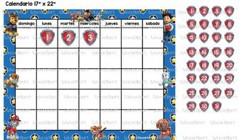 Calendario Paw Patrol