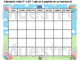 Calendario Peppa Pig - Spanish Calendar