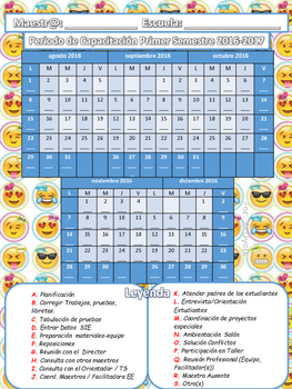 Calendario Periodo de Capacitación 2016-17