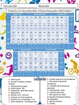 Calendario Periodo de Capacitación 2017-18  Deportes