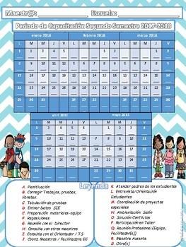 Calendario Periodo de Capacitación 2017-18 Melonheadz