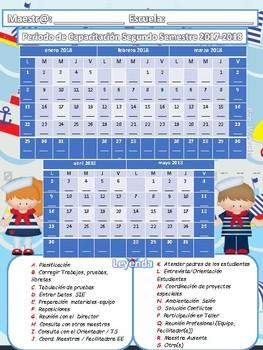 Calendario Periodo de Capacitación 2017-18  Nautical
