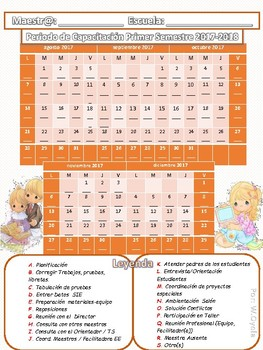 Calendario Periodo de Capacitación 2017-18  Precious Moments