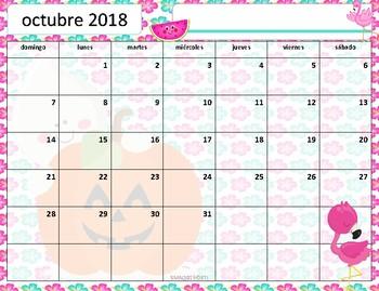 Calendario académico 2018 -  2019 Flamingo