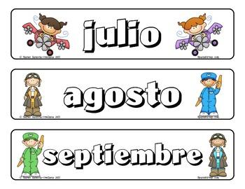 "Calendario con tema de ""Viajando en Avion"" - Spanish Airplane Calendar Set"