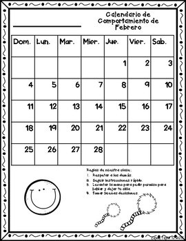 Calendario de Comportamiento 2017-2018! Dr. Seuss Inspired {No Color Chart}
