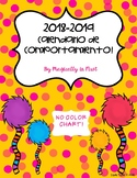 Calendario de Comportamiento 2018-2019! Dr. Seuss Inspired {No Color Chart}