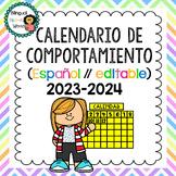 Calendario de Comportamiento 2019-2020 {Editable!} // Behavior Calendar *SPANISH