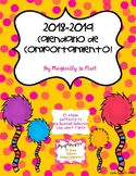 Calendario de Comportamiento -Behavior calendar 2018-2019