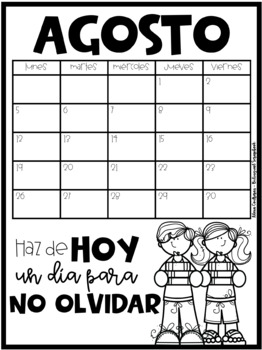 Calendario de Conducta 2017-2018 (Behavior Clip Chart & Calendar in Spanish)