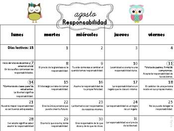 Calendario de Reflexiones/Escolar 2017-18 Buhos