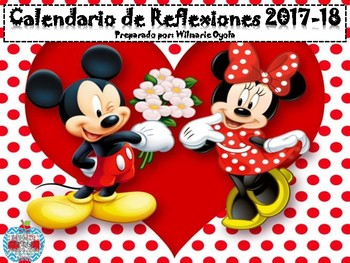 Calendario de Reflexiones/Escolar 2017-18 MICKEY Y MINNIE