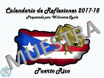 Calendario De Reflexionesescolar 2017 18 Puerto Rico By Maestra Oyola