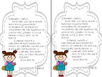 Calendario de lectura bilingue