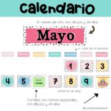 Calendario en español | Calendar set Spanish pocket chart