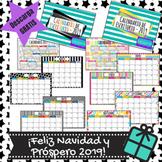 Calendario mensual 2019 - Monthly calendar 2019 in Spanish