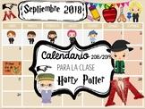 Calendario mensual EDITABLE Harry Potter en ESPAÑOL