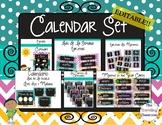 Calendario para su pared! - Editable Chalkboard Spanish Calendar & Birthday Set
