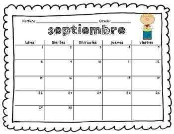 Calendarios de conducta en español