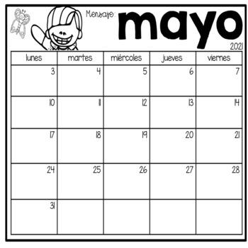 Calendarios editables para el año en Español