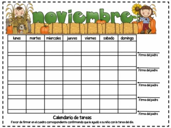 Calendarios para tarea