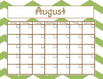 Calendars- Camping Theme