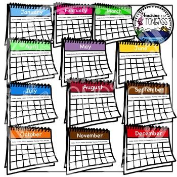 Calendars Clipart Bundle