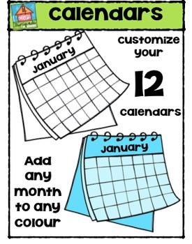 Calendars {P4 Clips Trioriginals Digital Clip Art}