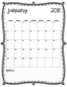 Calendars - Teacher Binder
