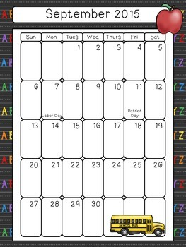 Calendars, Themes, and Lesson Plan Organization for SLPs (2015-2016)