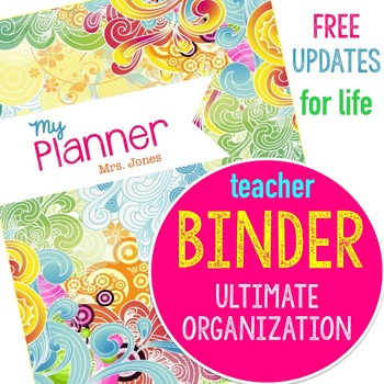 Teacher Binder Planner with Free Updates Yearly to stay organized