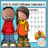 Calendars for 2021 to 2022...Editable