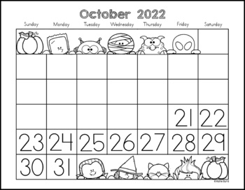 Calendars for Number Writing  ~Perpetual~