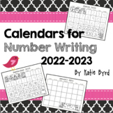 Calendars for Number Writing - Perpetual